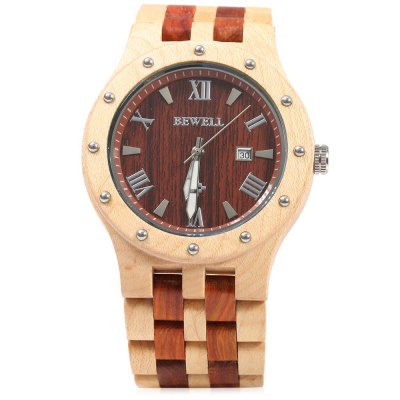 Bewell ZS - W109A Quartz Men WatchMens Watches<br>Bewell ZS - W109A Quartz Men Watch<br><br>Brand: Bewell<br>Watches categories: Male table<br>Watch style: Fashion<br>Movement type: Quartz watch<br>Shape of the dial: Round<br>Display type: Analog<br>Hour formats: 12 Hour<br>Case material: Wood<br>Band material: Wood<br>Clasp type: Folding clasp with safety<br>The dial thickness: 1.2 cm / 0.47 inches<br>The dial diameter: 4.5 cm / 1.77 inches<br>The band width: 2.8 cm / 1.10 inches<br>Wearable length: 21 cm / 8.27 inches<br>Product weight: 0.064 kg<br>Package weight: 0.086 kg<br>Product size (L x W x H): 21.00 x 5.00 x 1.20 cm / 8.27 x 1.97 x 0.47 inches<br>Package size (L x W x H): 22.00 x 6.00 x 2.20 cm / 8.66 x 2.36 x 0.87 inches<br>Package Contents: 1 x Bewell ZS - W109A Wood Watch