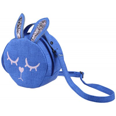 Cute Color Block Bunny Handbags Flap-eared Coin Purse for Girls