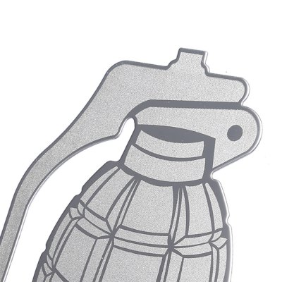 T17367 Stainless Steel Car Grenade Sticker