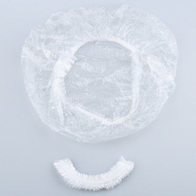 10pcs Hair Salon Disposable Clear Home Hotel Spa Shower Bathing Elastic Caps