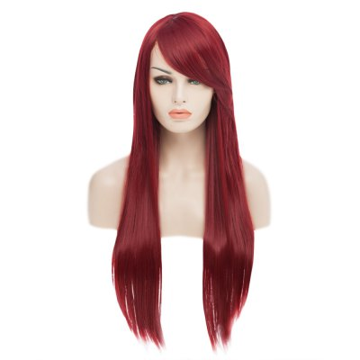 6 Colors Long Straight Cosplay Comic Animation Hair Wig