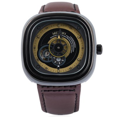 MEGIR M3012 Men Automatic Mechanical WatchMechanical Watches<br>MEGIR M3012 Men Automatic Mechanical Watch<br><br>Band color: Black,Brown<br>Band Length: 7.87<br>Band Length Unit: inch<br>Band Material Type: Leather<br>Band Width: 20mm<br>Case material: Stainless Steel<br>Case Shape: Square<br>Clasp type: Pin Clasp<br>Dial Diameter: 1.77<br>Dial Diameter Unit: inch<br>Dial Display: Analog<br>Dial Material Type: Stainless Steel<br>Dial Window Material Type: Glass<br>Feature: None<br>Gender: Men<br>Movement: Automatic Self-Wind<br>Style: Fashion &amp; Casual<br>Product weight: 0.096 kg<br>Package weight: 0.121 kg<br>Product Size(L x W x H): 25.50 x 5.00 x 1.00 cm / 10.04 x 1.97 x 0.39 inches<br>Package Size(L x W x H): 26.50 x 6.00 x 2.00 cm / 10.43 x 2.36 x 0.79 inches<br>Package Contents: 1 ? MEGIR M3012 Men Automatic Mechanical Watch