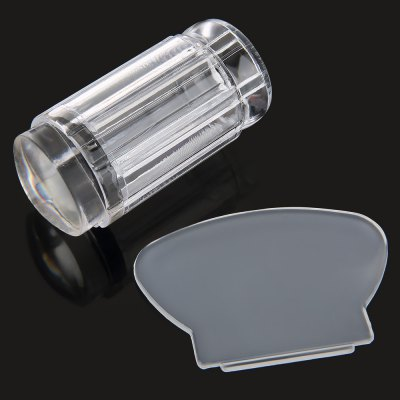Transparent Nail Art Manicure Set Clear Jelly Stamper Scraper Tool Polish Stamp Image Tool Kit