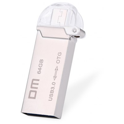 DM PD009 64GB USB 3.0 Metal Micro USB OTG U Disk