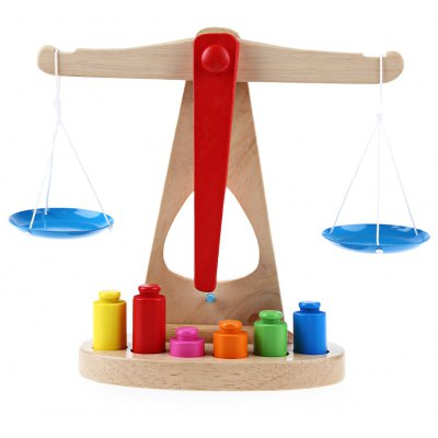 Wooden Balance Scale Montessori Early Learning Toys for Children