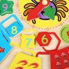 Cartoon Digital Clock  Early Learning Wooden Toys for sale