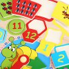 Cartoon Digital Clock Early Learning Wooden Toys deal