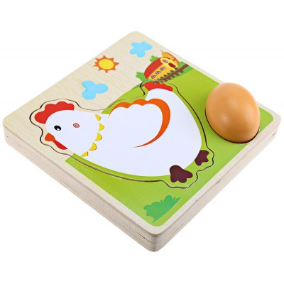 Multiple Layers Hen Grow Up Process Wooden Building Block Children Education Toy
