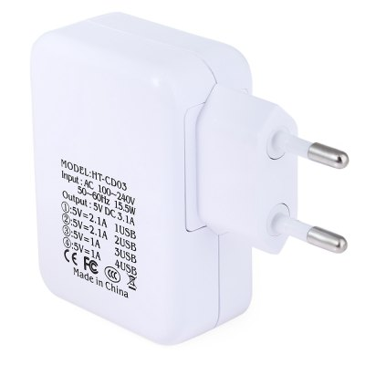 Home Wall Power Supply Adapter ChargerChargers &amp; Cables<br>Home Wall Power Supply Adapter Charger<br><br>Color: White<br>Plug Type: EU<br>USB Ports: 4<br>Product weight: 0.062 kg<br>Package weight: 0.083 kg<br>Product Size(L x W x H): 8.70 x 6.60 x 2.70 cm / 3.43 x 2.60 x 1.06 inches<br>Package Size(L x W x H): 9.50 x 7.50 x 3.50 cm / 3.74 x 2.95 x 1.38 inches<br>Package Contents: 1 x Charging Adapter