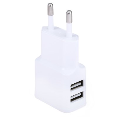 Home Wall Power Supply Adapter ChargerChargers &amp; Cables<br>Home Wall Power Supply Adapter Charger<br><br>Color: White<br>Package Contents: 1 x Charging Adapter<br>Package Size(L x W x H): 7.50 x 4.00 x 3.00 cm / 2.95 x 1.57 x 1.18 inches<br>Package weight: 0.051 kg<br>Plug Type: EU<br>Product Size(L x W x H): 7.00 x 3.50 x 2.00 cm / 2.76 x 1.38 x 0.79 inches<br>Product weight: 0.030 kg<br>USB Ports: 2