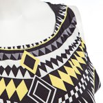 Fashionable Round Collar Sleeveless Printed Zipper Patchwork Lined Design Ball Gown Women Maxi Dress photo