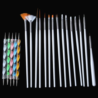 Nail Art Design Set Dotting Painting Drawing Polish PenNail Tools<br>Nail Art Design Set Dotting Painting Drawing Polish Pen<br><br>Item Type: Nail Brush<br>Materials: Plastic<br>Product weight: 0.084 kg<br>Package weight: 0.105 kg<br>Product Size  ( L x W x H ): 20.50 x 13.50 x 1.00 cm / 8.07 x 5.31 x 0.39 inches<br>Package Size ( L x W x H ): 21.00 x 14.00 x 2.00 cm / 8.27 x 5.51 x 0.79 inches<br>Package Content: 3 x Drawing Tools, 7 x Painting Tools, 2 x Liners, 1 x Dotting Tool, 2 x Fan brushes 5 x 2-ways Nail Art Tool Dotting Pen