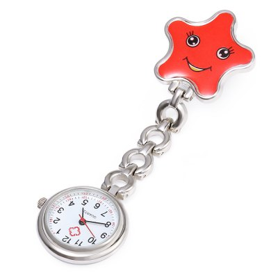 Nurse Starfish Quartz WatchPocket Watches<br>Nurse Starfish Quartz Watch<br><br>Watches categories: The other<br>Watch style: Pocket<br>Available color: Blue,Pink,Purple,Red,Yellow<br>Shape of the dial: Round<br>Movement type: Quartz watch<br>Case material: Stainless Steel<br>Band material: Alloys<br>The dial thickness: 8 mm<br>The dial diameter: 25 mm<br>Product weight: 0.025 kg<br>Package weight: 0.047 kg<br>Product size (L x W x H): 9.50 x 3.00 x 0.80 cm / 3.74 x 1.18 x 0.31 inches<br>Package size (L x W x H): 10.50 x 4.00 x 1.80 cm / 4.13 x 1.57 x 0.71 inches<br>Package Contents: 1 ? Nurse Starfish Quartz Watch