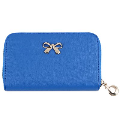 Lady Solid Color Bowknot Embellishment Leather WalletWomens Wallets<br>Lady Solid Color Bowknot Embellishment Leather Wallet<br><br>Wallets Type: Clutch Wallets<br>Gender: For Women<br>Style: Fashion<br>Closure Type: Zipper<br>Pattern Type: Solid<br>Main Material: Leather<br>Hardness: Soft<br>Interior: Interior Zipper Pocket<br>Embellishment: Bowknot<br>Height: 2.8cm / 1.1004inch<br>Width: 8.8cm / 3.4584inch<br>Length(CM): 14cm / 5.502inch<br>Weight: 0.104kg<br>Package Contents: 1 x Wallet
