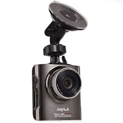 Anytek A3 Car DVR Night Vision Dash CameraCar DVR<br>Anytek A3 Car DVR Night Vision Dash Camera<br><br>Model: A3<br>System requirements: Win 7<br>Image Sensor: CMOS<br>Max External Card Supported: TF 32G (not included)<br>Class Rating Requirements: Class 6 or Above<br>Screen size: 2.3inch<br>Screen type: LTPS<br>Battery Type: Built-in<br>Battery Capacity (mAh?: 400mAh<br>Charge way: Car charger<br>Working Time: About 20 minutes<br>Working Voltage: 12V<br>Wide Angle: 170 degree wide angle<br>Lens Size: 2.3 inch<br>Video format: MOV<br>Video Resolution: 1080P (1920 x 1080)<br>Video System: NTSC,PAL<br>Video Frame Rate: 30fps<br>Video Output : AV-Out<br>Image Format : JPEG<br>Audio System: Multitrack<br>Exposure Compensation: +1/3,-1/3,-2/3,0,2/3<br>White Balance Mode: Auto,Cloudy,Daylight,Fluorescent,Tungsten<br>Scene: Auto<br>WIFI: No<br>Waterproof: No<br>Waterproof Rating : No<br>Motion Detection Distance: Within 5M<br>Night vision : Yes<br>Night Vision Distance: Within 3M<br>GPS: No<br>G-sensor: Yes<br>Interface Type: AV-Out,HDMI,USB 2.0<br>Anti-shake: Yes<br>Language: Arabic,English,Simplified Chinese,Traditional Chinese<br>Parking Monitoring: No<br>Frequency: 50Hz,60Hz<br>Operating Temp.: 20 -40 Deg.C<br>Power Cable Length: About 1M<br>Product weight: 0.123 kg<br>Package weight: 0.534 kg<br>Product size (L x W x H): 7.00 x 7.00 x 3.00 cm / 2.76 x 2.76 x 1.18 inches<br>Package size (L x W x H): 20.50 x 14.50 x 7.50 cm / 8.07 x 5.71 x 2.95 inches<br>Package Contents: 1 ? Car DVR Video Recorder, 1 ? Car Charge, 1 ? USB Cable, 1 ? Bracket, 1 ? English User Manual
