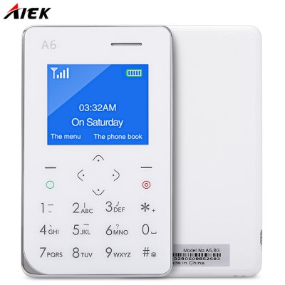 AIEK A6 Quad Band Card Phone 1.77 inch