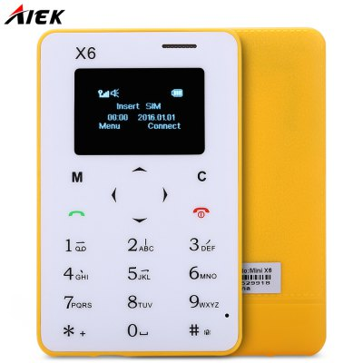 AIEK X6 Quad Band Card Phone 1.0 inch
