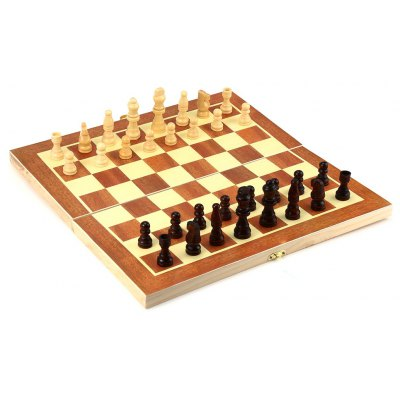 Wooden International Folding Chess Intelligence Game Toy