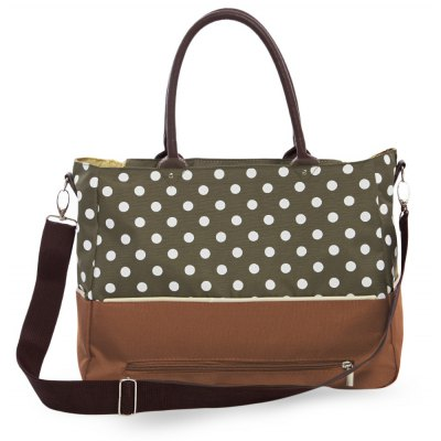 Abrasion-Proof Breathable Dot Pattern Babies Nappy Changing Mummy Tote