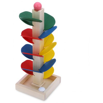 Wooden Colorful Marble Tree