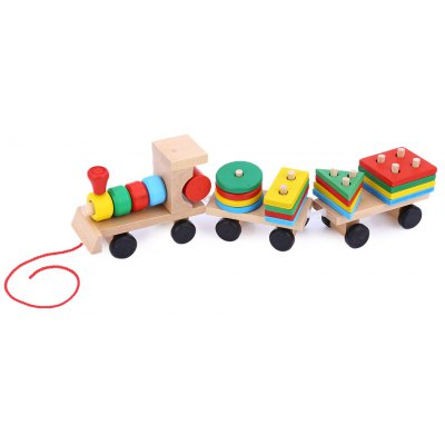 Colorful Stacking Wooden Train
