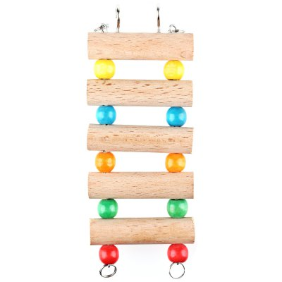 Flexible Wooden Pets Hamster Ladder Hanging Stairs Toy