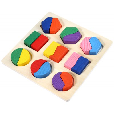 Wooden 3D Geometry Puzzle Toy for Kids