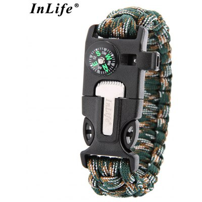 Inlife Outdoor Survival Parachute Cord Bracelet