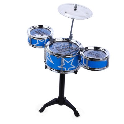 Jazz Rock Drums Kids Toy Musical Instrument with Three Drums