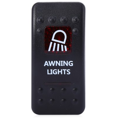 5pin Awning Lights Rocker SwitchOther Car Gadgets<br>5pin Awning Lights Rocker Switch<br><br>Features: Durable,Portable<br>Functions: Environmental friendly,Improve driving safety<br>Material: ABS,Metal<br>Color: Black<br>Special function: 5pin ON / OFF rocker switch<br>Product weight: 0.025 kg<br>Package weight: 0.050 kg<br>Product size (L x W x H): 5.00 x 5.00 x 2.50 cm / 1.97 x 1.97 x 0.98 inches<br>Package size (L x W x H): 17.00 x 12.00 x 3.00 cm / 6.69 x 4.72 x 1.18 inches<br>Package Contents: 1 x 5pin ON / OFF Rocker Switch