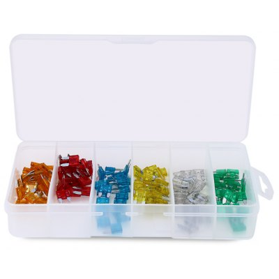 455 - Z 120pcs Car Mini Size Fuse Assortment Kit