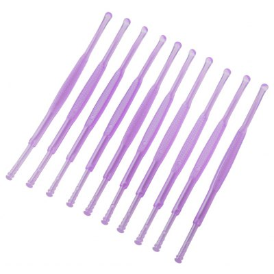 10pcs Plastic Two Ends Wax Curette Remover Cleaner Care Tool Earpick
