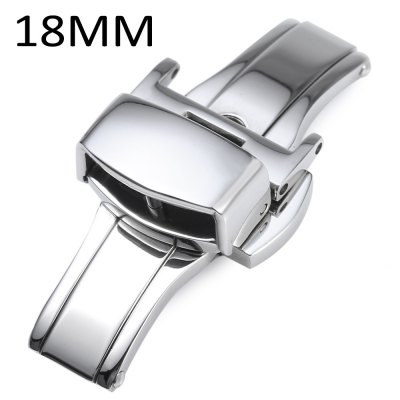 18MM Stainless Steel Double Push Button Butterfly Clasp