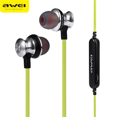 Awei A980BL Bluetooth 4.0 Wireless Sports Earphones with Handsfree Songs Track Function