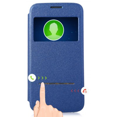 View Window Protective Case Cover Smart Metal Sliding Answer for iPhone 5C
