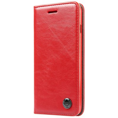 Luxury Series Magnetic Flip PU Leather Wallet Cover for iPhone 6 Plus / 6S Plus