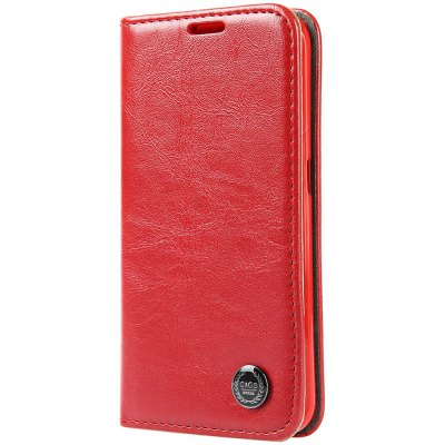 Luxury Series Magnetic Flip PU Leather Wallet Cover for Samsung S6 Edge