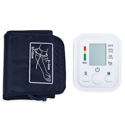 Arm Blood Pressure Pulse Monitor Health Care Digital Upper Portable Sphygmomanometer with Voice