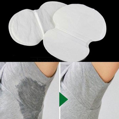 10pcs Summer Disposable Absorbing Underarm Sweat Guard Pads Deodorant Armpit Shield