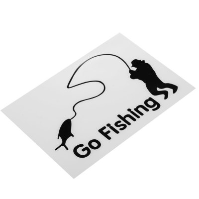 Go Fishing Boy Reflective Car Sticker