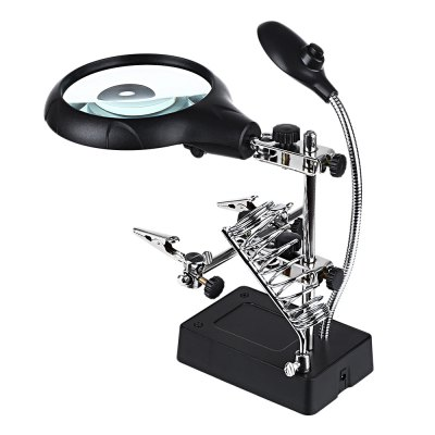 Soldering Stand Clip Magnifier