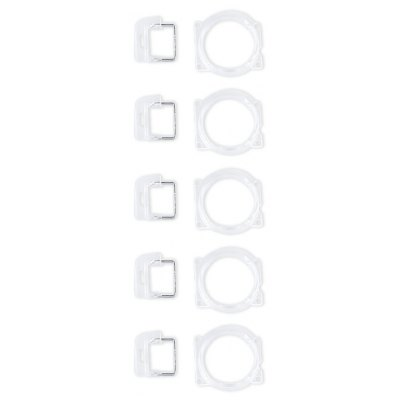 5Pack / Set Front Camera Lens Frame with Light Sensor Replacement for iPhone 5
