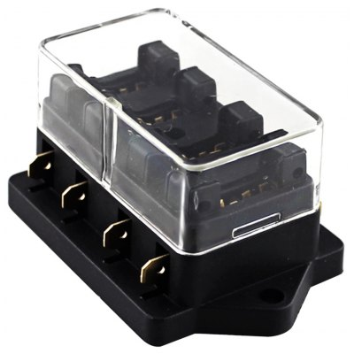 Car 4 Way Fuse Box Holder