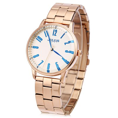 JULIUS JA - 859 Men Quartz WatchMens Watches<br>JULIUS JA - 859 Men Quartz Watch<br><br>Band Length: 9.06<br>Band Length Unit: inch<br>Band Material Type: Stainless Steel<br>Band Width: 20mm<br>Case material: Stainless Steel<br>Case Shape: Round<br>Case Thickness: 10mm<br>Clasp type: Folding Clasp with Safety<br>Dial Diameter: 1.57<br>Dial Diameter Unit: inch<br>Dial Display: Analog<br>Dial Material Type: Stainless Steel<br>Dial Window Material Type: Glass<br>Feature: None<br>Gender: Men<br>Movement: Quartz<br>Style: Fashion &amp; Casual<br>Product weight: 0.120 kg<br>Package weight: 0.230 kg<br>Product Size(L x W x H): 23.00 x 4.20 x 1.00 cm / 9.06 x 1.65 x 0.39 inches<br>Package Size(L x W x H): 9.70 x 9.70 x 8.00 cm / 3.82 x 3.82 x 3.15 inches<br>Package Contents: 1 x JULIUS JA - 859 Men Quartz Watch