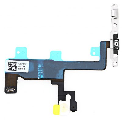 On / OFF Power Volume Button Mute Control Mic Flash Metal Plate Flex Cable Repair Component for iPhone 6