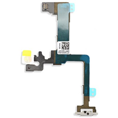 On / OFF Power Volume Button Mute Control Mic Flash Metal Plate Flex Cable Repair Component for iPhone 6 Plus