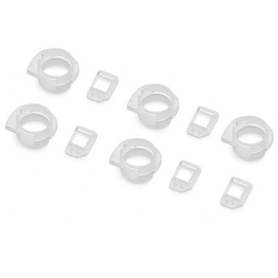 5Pack / Set Front Camera Lens Frame with Light Sensor Replacement for iPhone 5S