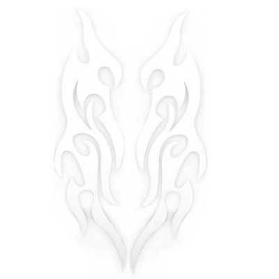 2pcs Car Sticker Flame Fire Styling Decal