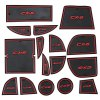 16pcs Car Gate Slot Pad Mazda CX - 5 RED WITH BLACK
