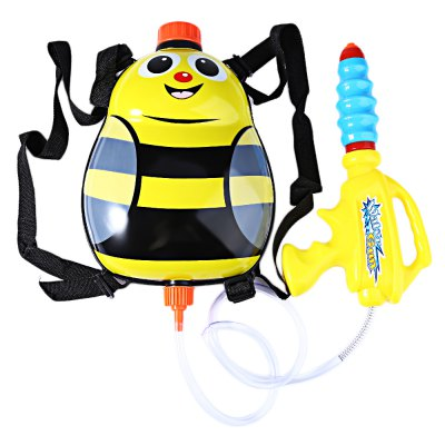 Kids Cute Ladybird Backpack Pressure Water Gun Toy